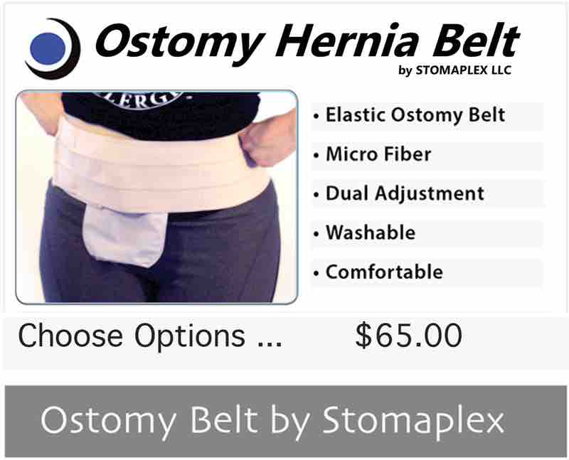 Ostomy hernia belt for the stomaplex stoma guard. the parastomal hernial belt offer greater adjustability and more support for your hernia