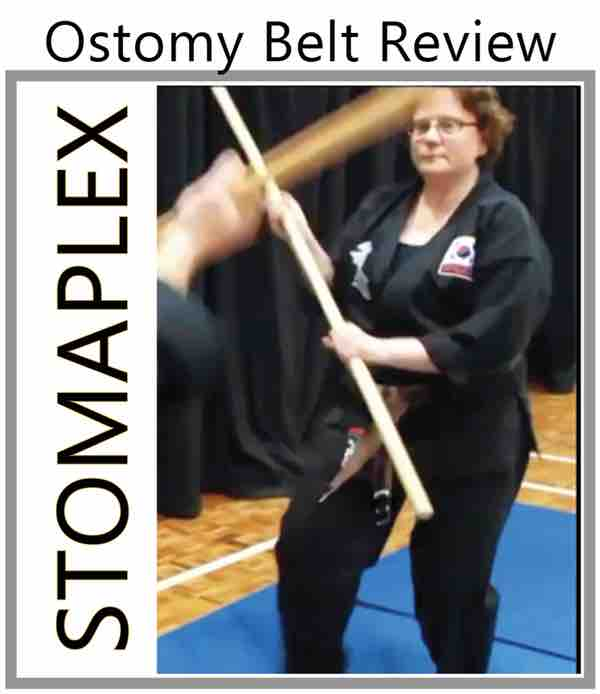 Ostomy Belt stoma guard martial arts, when you need ostomy protection for sports wear the stomaplex ostomy belt and stoma guard