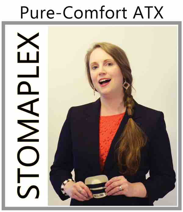Womens Ostomy Clothing, women with ileostomy wear a stomaplex stoma guard in this ostomy product review of ostomy protection systems