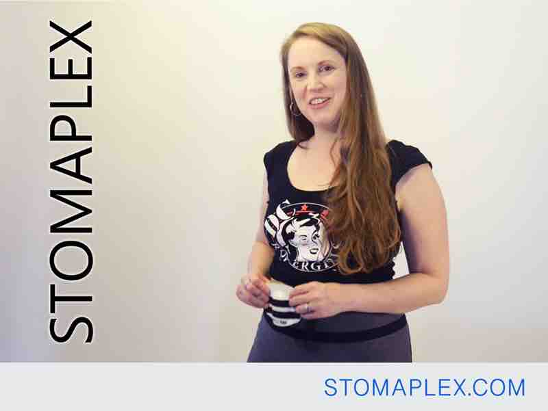 this is the best stoma guard for women with an ileostomy, it covers the stoma for ostomy protection, stomaplex