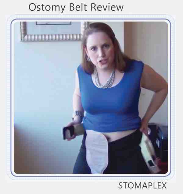 Ostomy protection by Stomaplex for colostomy belts youtube video link
